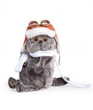 Басик в шлеме и шарфе. Размер - 19 см.