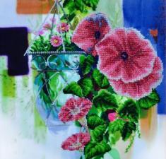 Картины бисером | Цветочная акварель 2. Размер - 30 х 30 см.