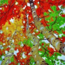 Картины бисером | Осенний день. Размер - 35 х 35 см.
