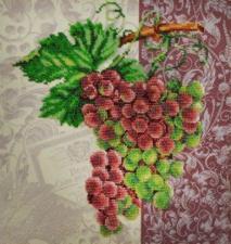 Картины бисером | Винтажный виноград. Размер - 29 х 29 см.