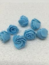 Роза из фоамирана,2 см,цвет голубой (blue),10 шт