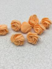 Роза из фоамирана,2 см,цвет оранжевый (orange),10 шт
