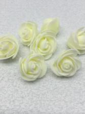 Роза из фоамирана,3 см,цвет молочный (ivory),10 шт