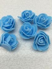Роза из фоамирана,3 см,цвет голубой (blue),10 шт