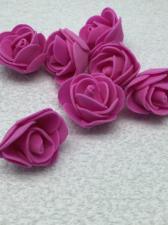Роза из фоамирана,3 см,цвет фуксия (fuchsia),10 шт
