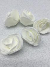 Роза из фоамирана,4 см,цвет белый (white),10 шт