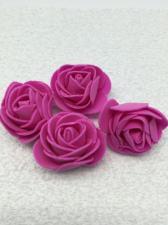 Роза из фоамирана,4 см,цвет фуксия (fuchsia),10 шт