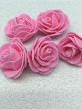 Роза из фоамирана,4 см,цвет розовый (pink),10 шт