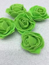 Роза из фоамирана,4 см,цвет зелёный (green),10 шт