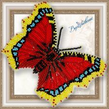 """Набор для вышивки бисером на прозрачной основе """"Бабочка """"Nymphalis antiopa"""""""""""