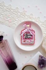 """Набор для вышивки бисером украшения на натуральном художественном холсте """"Мисс Диор"""""""