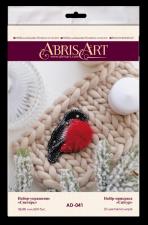 """Набор для вышивки бисером украшения на натуральном художественном холсте """"Снегирь"""""""
