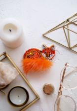 """Набор для вышивки бисером украшения на натуральном художественном холсте """"Рыжехвостая"""""""