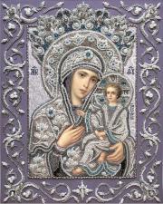 Изящное рукоделие | Богородица Тихвинская. Размер - 32 х 41 см