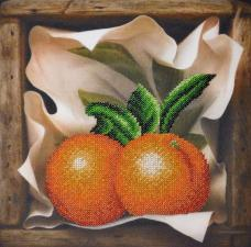 Картины бисером | Апельсин. Размер - 23 х 23 см.