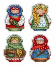 """Набор для вышивания на пластиковой канве """"Русские обереги.Магниты"""""""