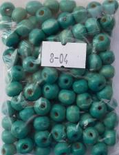 Деревянные бусины 8мм (20 г),цвет №04 (бирюзовый)