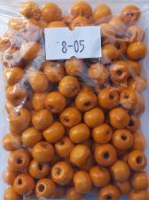 Деревянные бусины 8мм (20 г),цвет №05 (светло-оранжевый)