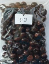 Деревянные бусины 8мм (20 г),цвет №07 (коричневый)
