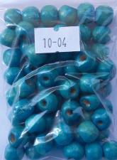 Деревянные бусины 10мм (20 г),цвет №04 (бирюзовый)