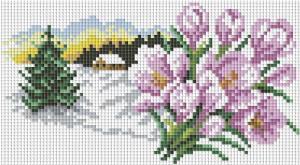 """Мозаичная картина """"В ожидании весны"""". Размер - 30 х 20 см."""
