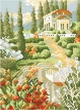 "Мозаичная картина ""Южные красоты"". Размер - 26 х 33 см."
