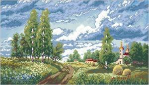 """Мозаичная картина """"Родная земля"""". Размер - 60 х 37 см."""
