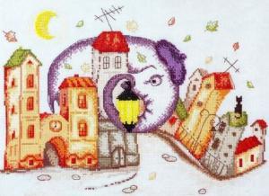 Марья Искусница | Осенняя пора (по рисунку Ю.Доценко). Размер - 35 х 25 см.