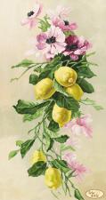 Букет с лимонами. Размер - 24 х 45 см.