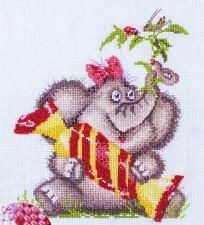 Марья Искусница | Сладкое счастье (по рисунку Л.Бартенева). Размер - 22 х 22 см.