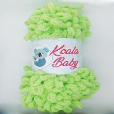 Пряжа Koala baby (100% полиэстер, 180 гр/16,7 м),108 салатовый
