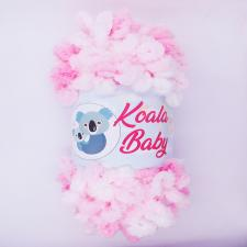 Пряжа Koala baby colors (100% полиэстер, 150 гр/13,9 м), цвет 203 бело-розовый