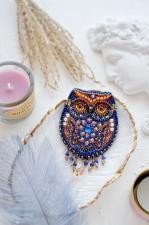 """Набор для вышивки бисером украшения на натуральном художественном холсте """"Филин"""""""