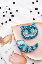 """Набор для вышивки бисером украшения на натуральном художественном холсте """"Чеширский Кот"""""""