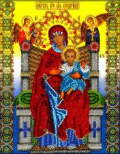 "Чудотворный образ Божией Матери ""Всецарица"". Размер - 19,5 х 25 см."