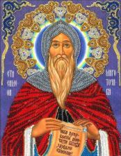 Преподобный Симон Мироточивый (трунцал). Размер - 19 х 25 см.