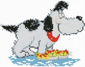 Белоснежка | Домашний пёс. Размер - 15 х 12 см.