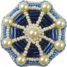 """Набор для изготовления броши Crystal Art """"Штурвал"""". Размер - 4,5 х 4,5 см."""