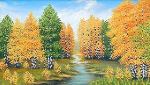 Маричка | Берёзовый лес. Размер - 37 х 21 см.