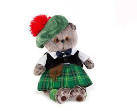 Басик в шотландском костюме. Размер - 25 см.