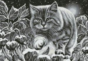 Ночной кот. Размер - 47,5 х 69,5 см