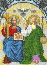 Икона Новозаветная Троица. Размер - 19 х 24,5 см.