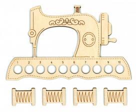 """Органайзер для ниток """"Швейная машинка""""+4 бобины для ниток. Размер - 12 х 20 см."""