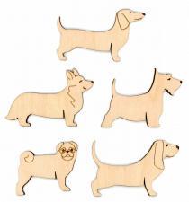 """Бобины для ниток """"Собаки"""" набор 10 шт (5 видов по 2 шт)"""