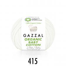 Пряжа Organic baby cotton (100% органический хлопок, 50 гр/115 м),415 белый