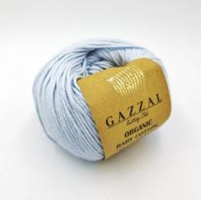 Пряжа Organic baby cotton (100% органический хлопок, 50 гр/115 м),417 нежно-голубой