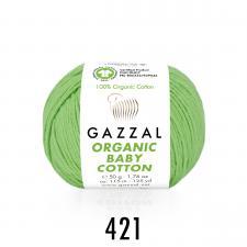 Пряжа Organic baby cotton (100% органический хлопок, 50 гр/115 м),421 мятный