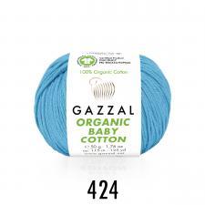 Пряжа Organic baby cotton (100% органический хлопок, 50 гр/115 м),424 бирюзовый