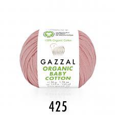 Пряжа Organic baby cotton (100% органический хлопок, 50 гр/115 м),425 розовый