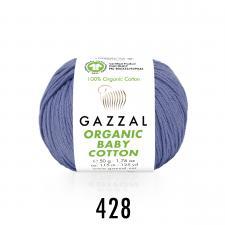 Пряжа Organic baby cotton (100% органический хлопок, 50 гр/115 м),428 сирень